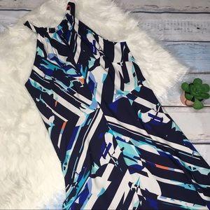 Classiques Entier blue white pattern dress size 12